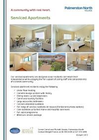 Serviced Apartments at Palmerston North Village