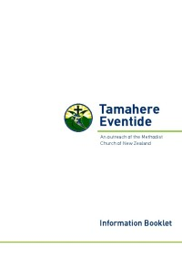 Tamahere Eventide Booklet