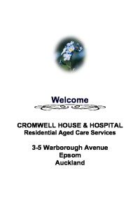 Cromwell House welcome booklet