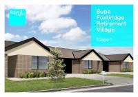 Bupa Foxbridge Retirement Village Floor Plan